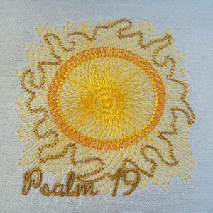 Psalm 19 4x4-embroidering the Psalms, scripture embroidery designs, Christian embroidery designs,Psalms embroidery and applique designs, religious embroidery and applique designs,