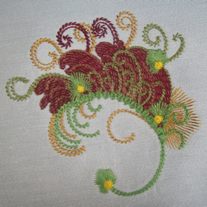 FALL FANTASY LEAF 4X4-autumn leaf exclusive embroidery accent designs, fall embroidery designs,Autumn embroidery designs, accessory fall home decor embroidery designs, artsy embroidery designs,original embroidery designs, fantasy embroidery desings, plume embroidery designs,accent embroidery design