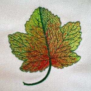REALISTIC FALL LEAF 4x4-Autumn Fall embroidery design, realistic leaf embroidery design, leaf design, excusive embroidery designs, original embroidery design,