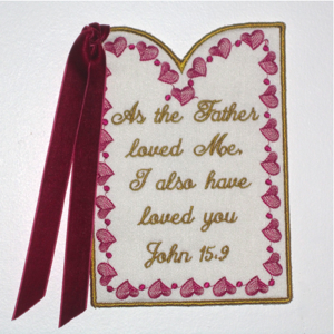 JOHN 159 SCRIPTURE CARD-Christian scripture religious embroidery faith designs, Christian scripture in the hoop faith embroidery designs, in the hoop Christian card scripture faith religious embroidery, faith embroidery designs, in the hoop faith sentiments embroidery designs,John 15 9 scripture embroidery design