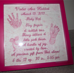 announcement of new baby girl