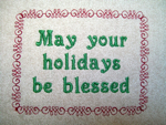 FREE  HOLIDAY BLESSINGS LABEL 4X4