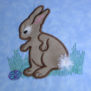 COTTONTAIL BUNNY 4x4-Easter applique and embroidery designs, bunny applique and embroidery designs, cottontail bunny embroidery applique design, Easter embroidery designs, children's applique embroidery designs, holiday embroidery designs