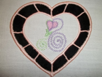 Cutwork Heart-Heart, Valentines, cutwork, cutwork heart, heirloom, reverse applique , cutwork embroidery designs,quality embroidery designs, single embroidery designs