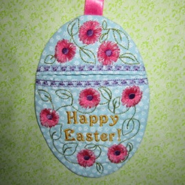 EASTER EGG WRISTLET / GIFT BAG 5X7-Easter gift bag embroidery design, in the hoop Easter embroidery gifts,