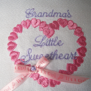Grandma's Sweetheart 4x4-heart valentine girls embroidery, single embroidery designs for little girls, heart embroidery designs, sweetheart embroidery designs,embroidery designs for babies, baby girl and boy embroidery designs