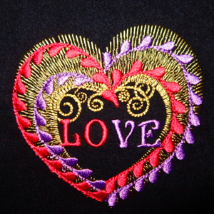 Heart of Love 4x4-Valentines embroidery heart designs,exclusive single heart embroidery design, exclusive valentine heart embroidery design,exclusive wedding single heart embroidery design, exclusive bridal single embroidery design