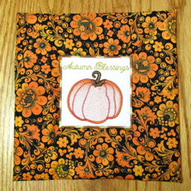 AUTUMN COFFEE COZY MUG RUGS 4X4 Mini Set-mug rug coffee cozy in the hoop embroidery design,in the hoop gifts embroidery designs,fall autumn in the hoop embroidery projects,exclusive in the hoop embroidery designs, mug mats, mug rug in the hoop 4x4 hoop