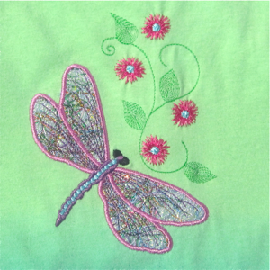 DRAGONFLY THREADS APPLIQUE 5X7-dragonfly embroidery applique designs, realistic dragonfly embroidery applique designs,fiber art dragonfly embroidery applique design, spring summer embroidery applique designs, nature themed embroidery applique designs, exclusive embroidery designs,