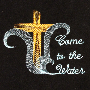 COME TO THE WATER mini set4x4-Christian embroidery designs,