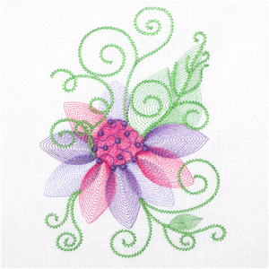 SUMMER FLOWER FANTASY 5X7-flower fantasy embroidery designs, optical embroidery designs,spring summer flower embroidery, sheer floral embroidery designs,