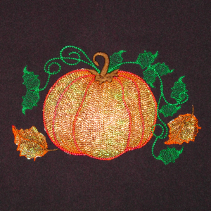 MOONLIT PUMPKINS MINI SET 5X7-pumpkin embroidery designs, fall autumn embroidery designs, pumpkin fall Halloween Mylar embroidery designs, Thanksgiving pumpkin holiday fall Mylar embroidery designs, exclusive fall embroidery designs