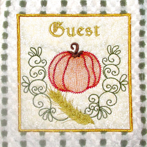PUMPKIN GUEST PATCH APPLIQUE 5x7-pumpkin embroidery patch design,Fall Autumn pumpkin patch embroidery, fall pumpkin applique embroidery patch designs,kitchen fall embroidery patch applique