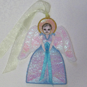 ANGELS AMONG US free standing angels-angel embroidery design free standing mylar, fsl angels in the hoop embroidery, angels christmas faith embroidery, cancer angels cause embroidery, support angles comfort sympathy free standing embroidery