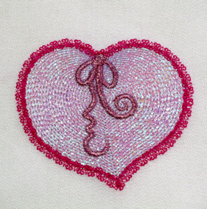 MYLAR RIPPLE HEART 4X4-mylar heart Valentine embroidery design, heart embroidery designs, Valentines embroidery designs, ripple heart embroidery applique, exclusive mylar embroidery designs