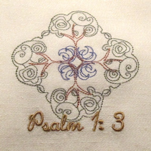 PSALM 1 V 3  4X4-Christian Psalms embroidery designs,religious scripture embroidery designs,bible embroidery designs