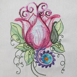 FLORAL DREAM 5X7-flower embroidery, floral embroidery, fantasy flower embroidery, exclusive embroidery designs,