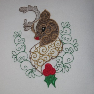 RUDOLPH THE REINDEER  5x7-Christmas embroidery designs, Rudolph the red nosed reindeer embroidery design, holiday embroidery designs, single Christmas embroidery designs, reindeer embroidery designs, Christmas embroidery designs for children,Christmas embroidery, Christmas gift embroidery designs