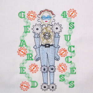 ROBOT GEARED 4 BOY 5X7-robot embroidery, gears embroidery designs, boys embroidery designs,steampunk embroidery designs,