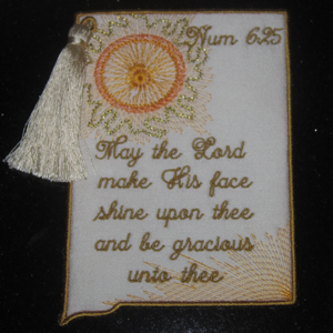 HIS SHINING GRACE 5X7-Christian and religious embroidery designs, scripture embroidery designs,in the hoop card embroidery designs,faith embroidery designs, bookmark embroidery designs
