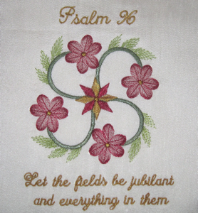 PSALM 96 5X7-Christian embroidery designs, scripture embroidery designs, Psalm embroidery designs,religious,faith embroidery designs