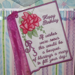 BIRTHDAY CARD  IF ROSES WERE WISHES-birthday embroidery designs, birthday card in the hoop embroidery design, roses embroidery designs, rose birthday card embroidery, special occasion embroidery designs, special occasion in the hoop embroidery designs,keepsake embroidery designs, birthday gift embroidery design