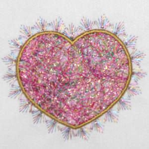 THREADS OF LOVE FIBER ART HEART APPLIQUE 4X4-heart applique embroidery designs, valentine applique embroidery designs, create fiber art applique and embroidery designs,wedding applique embroidery designs, exclusive applique embroidery fiber art designs