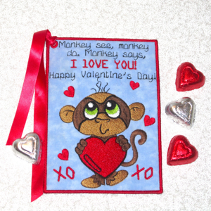 VALENTINES CARD I LOVE YOU BOYS-Valentines embroidery designs, Valentines Day embroidery card in the hoop, Valentines embroidery designs for boys, keepsake embroidery card Valentines day,valentine embroidery children's designs