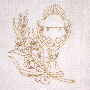 CHALICE REDWORK 4X4-Christian embroidery redwork designs, Easter embroidery redwork designs,chalice redwork embroidery design, communion redwork embroidery designs,faith redwork embroidery designs