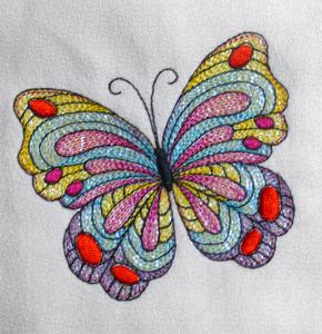 MYLAR BUTTERFLY SINGLE 4X4-butterfly embroidery designs, Mylar butterfly embroidery designs, Spring Summer nature embroidery designs, Spring Summer Mylar embroidery designs