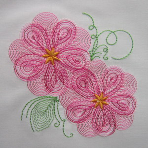 SPRING BLOSSOM 4X4-floral embroidery designs, optical floral embroidery designs, spring blossom flower embroidery, colorline embroidery,fantasy floral embroidery,delicate embroidery designs
