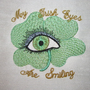 MY IRISH EYES ARE SMILING  4X4-St.Patrick's Day embroidery designs, Irish embroidery designs,Celtic embroidery designs, My Irish eyes are smiling embroidery designs,
