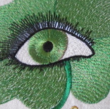 My Irish Eyes Are Smiling 5x7-St. Patrick's Day embroidery and applique designs, Celtic embroidery designs, Irish embroidery and applique designs, Irish Celtic St.Patrick's Day embroidery and applique single designs