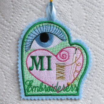 MICHIGAN EMBROIDERERS TAG
