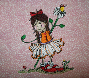 HAPPY MOM'S DAY GIRL 5x7 embroidery design from art by Sassy Cheryl-children's embroidery designs ,childrens, embroidery designs for girls, children's designs, flower embroidery designs, daisy embroidery design , Mother's Day embroidery designs , Happy Mother's Day, designs for little girls, single embroidery designs, quality embroidery designs,embroidery designs from Sassy Cheryl artwork, unique embroidery designs