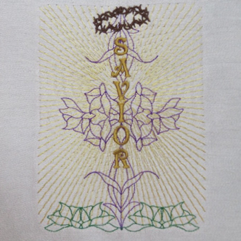 SAVIOR CROSS 5X7-Easter embroidery designs,Christian embroidery designs, religious embroidery designs, cross embroidery designs