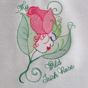 MY WILD IRISH ROSE 5X7-St. Patrick's Day embroidery designs, Irish embroidery designs, Celtic embroidery designs, exclusive Irish embroidery designs, single St. Patrick's Day Irish and Celtic embroidery designs, My Wild Irish Rose exclusive embroidery design