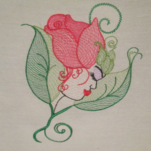 WILD ROSE 5X7-contemporary urban embroidery designs for fashion and home decor, exclusive embroidery designs,accent embroidery designs,fantasy embroidery designs