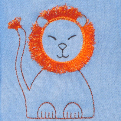 BABY LION FRINGED-baby lion embroidery design, baby toddler embroidery design, fringe embroidery designs, zoo animal embroidery designs