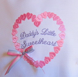 DADDY'S LITTLE SWEETHEART 5X5-heart embroidery designs, girls embroidery designs, valentine embroidery designs,daddy's girl embroidery designs