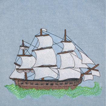 SHIP AT SEA 5X7