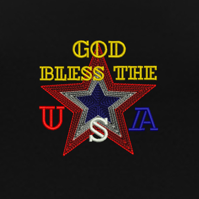 GOD BLESS THE USA-embroidery designs, patriotic embroidery designs, 4th of July embroidery designs, Christian patriotic embroidery designs