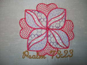 Psalm  73 v 23 4x4-embroidering the Psalms, Psalms in embroidery, Psalms embroidery designs, scripture embroidery designs, Christain embroidery designs,religious embroidery designs, spiritual embroidery designs, sentiments embroidery designs, bible embroidery designs, biblical embroidery designs
