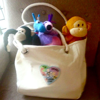 Austism embroidery and applique designs tote bag