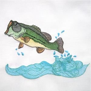 FISH LARGE MOUTH BASS 5X7