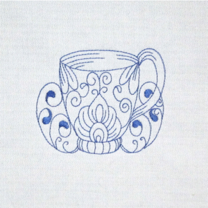 BLUEWORK TEA CUP 1 4x4
