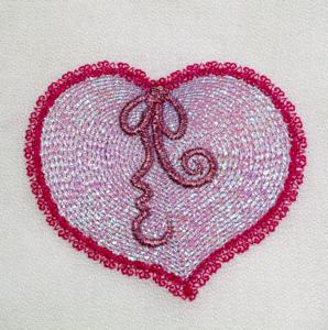 MYLAR RIPPLE HEART 4X4