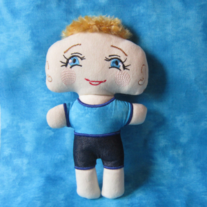 BRUSH CUT BOBBY  In the hoop doll 6X10