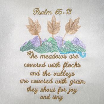 PSALM 65 V 13  5X7