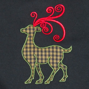 CHRISTMAS REINDEER APPLIQUE' 1 5X7